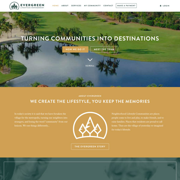 Evergreen Lifestyles Management - Web Design