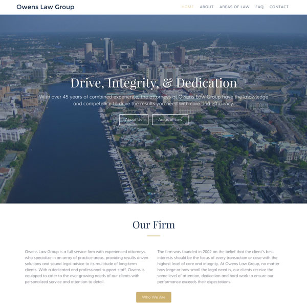 Owens Law - Web Design