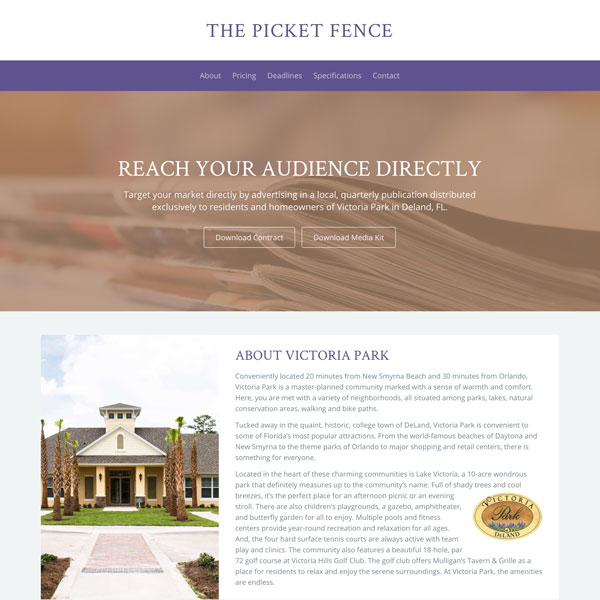 Picket Fence - Web Design