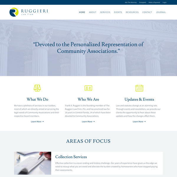 Ruggieri Law Firm - Web Design