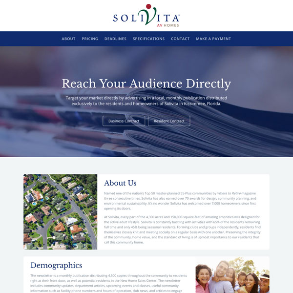 Solivita Advertising - Web Design