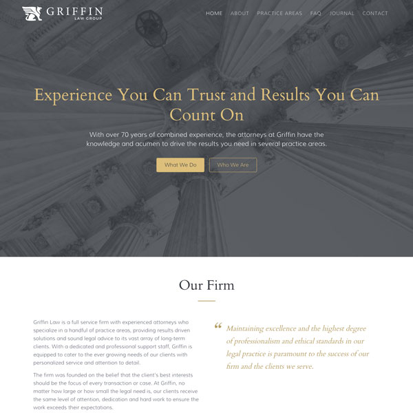 Website Template - Griffin - Legal Law