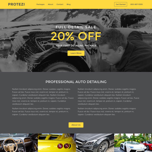 Website Template - Protezi - Auto Detailing