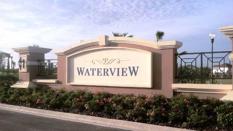 Waterview Community in Kissimmee Entrance Sign